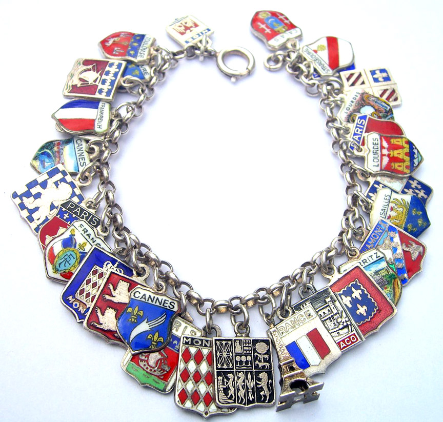 France Shield Charm Bracelet - Click Image to Close