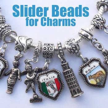 eCharmony.com  Vintage Silver   Enamel Souvenir Travel Shield Charms.  European 7fe4eb95f4d