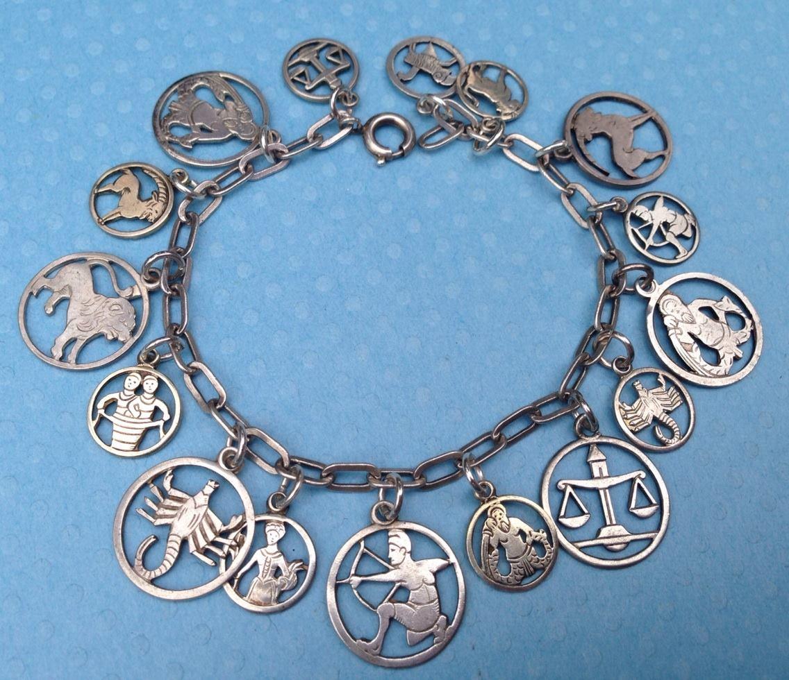 Echarmony Charm Bracelet Collection German Cut Out Zodiac Charms