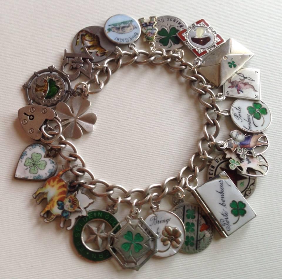 Echarmony Charms Collection · Echarmony Charm Bracelet Collection  Antique  Porte Bonheur Enamel Charms And Sliders