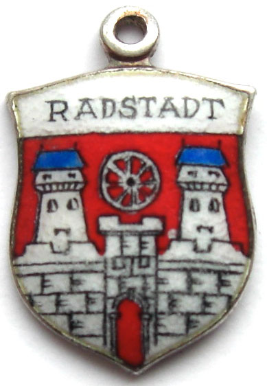 Radstadt, Austria - Coat of Arms Enamel Travel Shield Charm