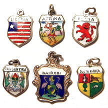 Africa Travel Shield Charms
