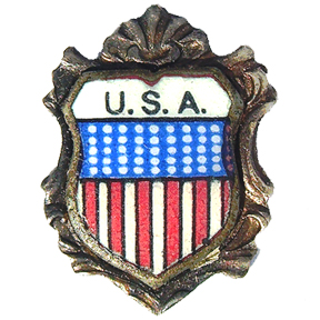 USA Travel Shield Charms