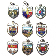Asia Travel Shield Charms