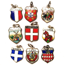 Europe Travel Shield Charms