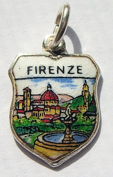 Firenze Italy Travel Charm Bracelet 2 - Click Image to Close
