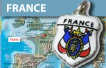 France Shield Charms