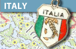 Italy Itlaia Enamel Shield Charms
