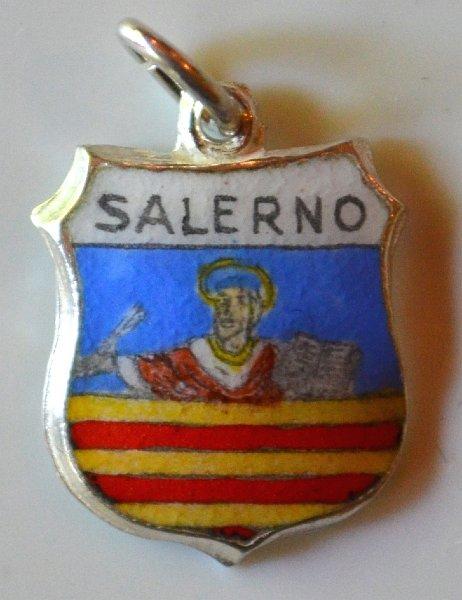 Ortisei Italy Charm Italian Souvenir Ortisei Italy Coat of Arms Charm Enamel Shield Charm Sterling Silver 800 Silver Charm