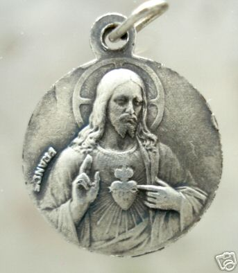 OUR LADY OF LA GARDE - ANTIQUE SILVERED CATHOLIC MEDAL - $0 00 : Zen