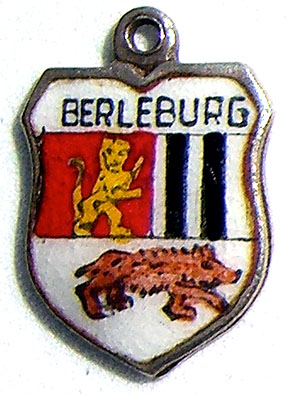 Berleburg, Germany - Enamel Travel Shield Charm - Click Image to Close